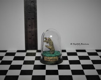 Miniature Creepy Harry Potter Inspired Hand of Glory Borgin and Burkes in 1:12 scale