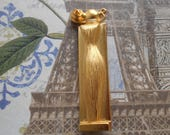 Givenchy Organza goldtone brooch. Figural brooch in the shape of the Organza perfume bottle.