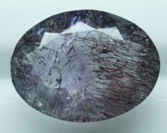 Super Seven Lepidocrocite Cacoxenite Stone Super 7 Amethyst Crystal Huge Oval Super Seven Loose Oval Faceted Gemstone 19.80x15x7.90mm