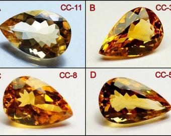 3 MM Round AAA++ Good Quality Natural Citrine Cut Lot Loose Gemstones B-210