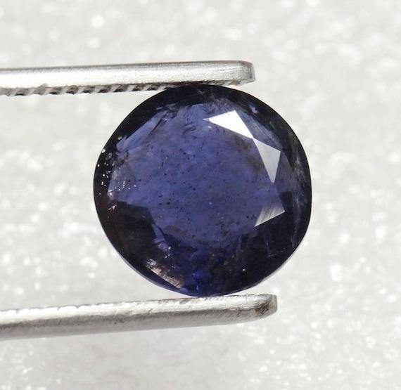 AAA+ Gr Oval Cabochon Sri Lanka Natural Extra Fine Deep Blue Purple Iolite