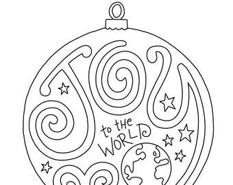 Christmas Around The World Coloring Page Kids Holiday Etsy