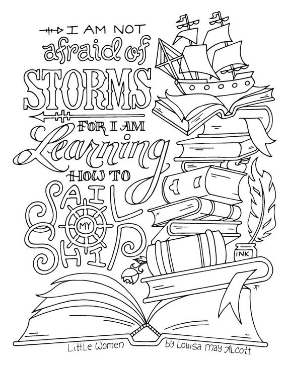 coloring page louisa may alcott quotes