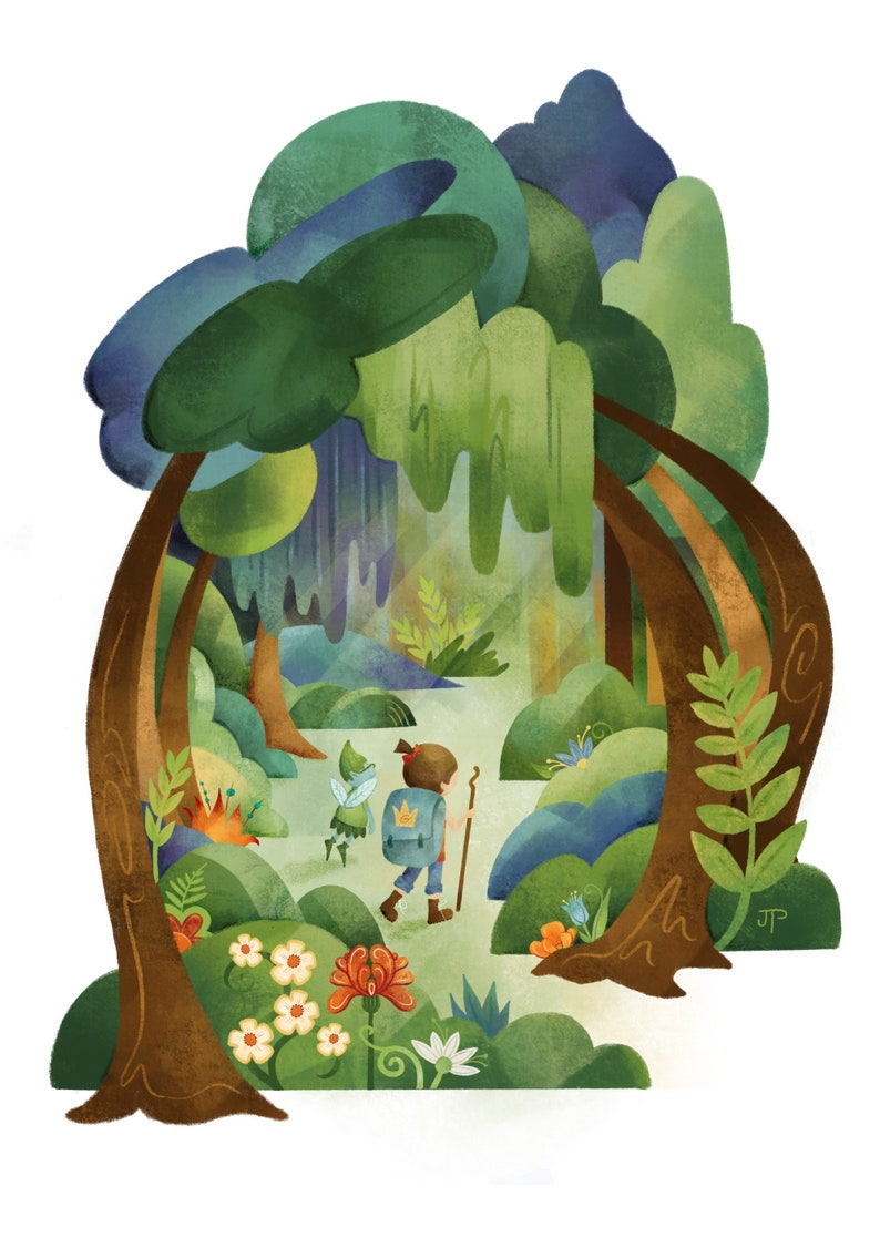 Forest Adventure art print / illustration / home decor / kids image 0
