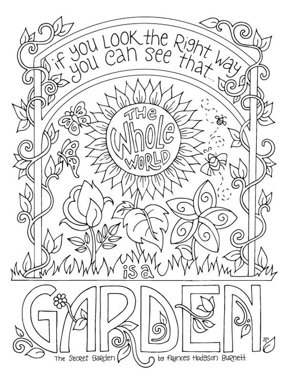 Secret Garden Coloring Page Frances Hodgson Burnett