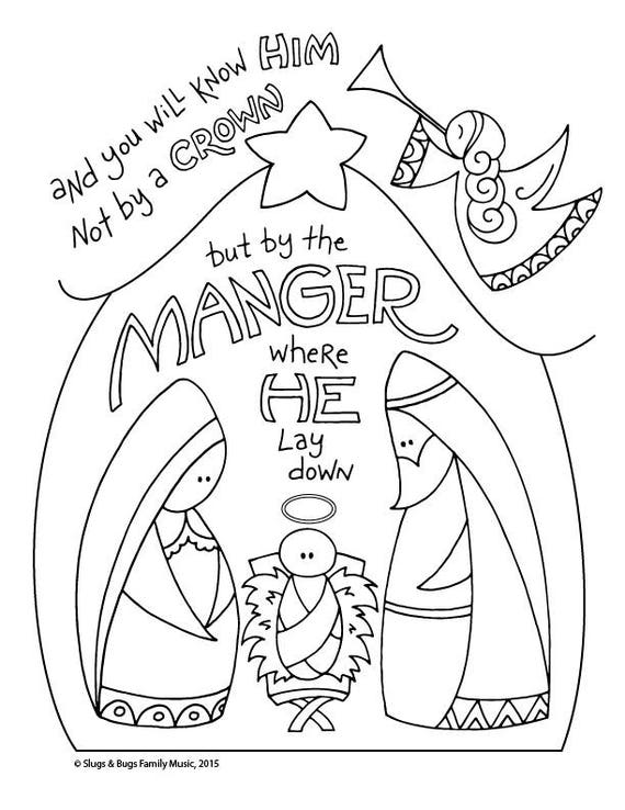 And You Will Know Him / Baby Jesus Christmas Coloring Page ...