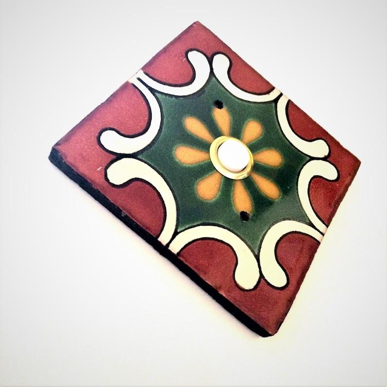 Door Bell Cover Plate  Ceramic Tile  VintageAntique