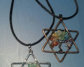 Tree Of Life Jewish Star necklace