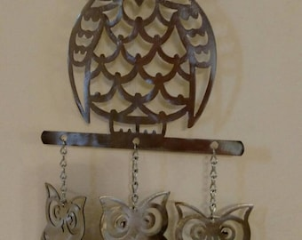 Wise Old Owl Wind Chime