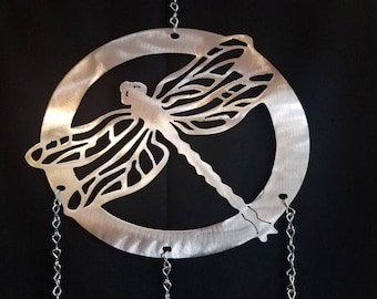 Round Dragonfly Wind Chime