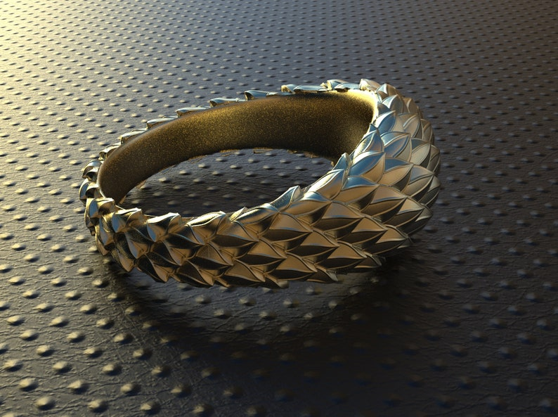 Snake scales reptile skin,dragon skin ring made of sterling silver,unisex silver ring.