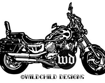 motorbike template etsy