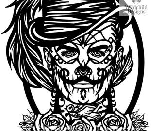 adrienna papercutting template gothic vinyl template svg etsy