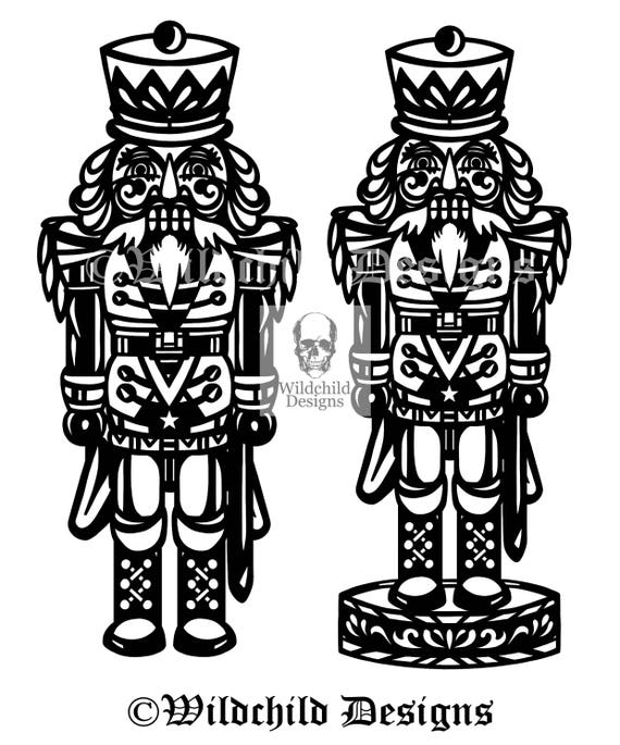 Nutcracker Soldier Papercutting Template, Personal Use, Vinyl ...