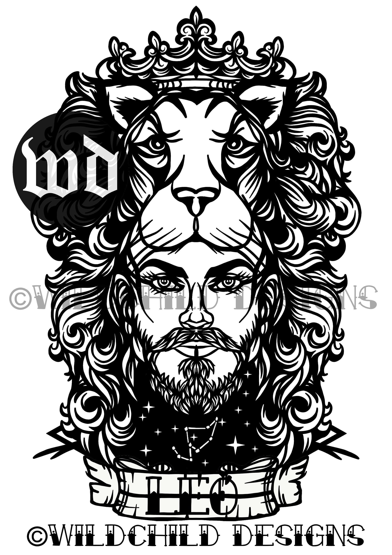 Lion Leo Man Papercutting Template, Vinyl Template, SVG, JPEG, Commercial  Use, Zodiac, Leo Paper Cutting Template, Wildchild, Astrology