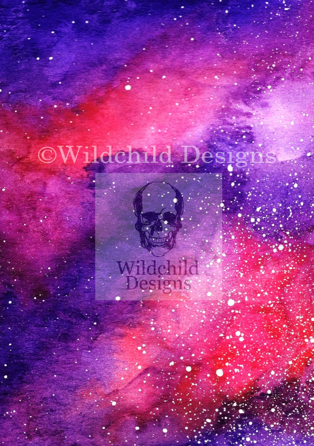 A4 Galaxy Nebula Space Watercolour Backing Paper from | Etsy