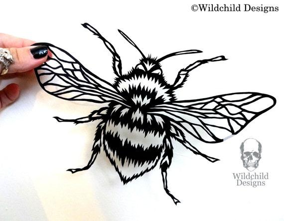 Bumble Bee Papercutting Template Vinyl Template Svg Jpeg Etsy