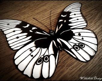 Blue Morpho Butterfly Paper Cutting Template, Personal Use, Vinyl Template, SVG, JPEG, Angel Template, Wildchild Designs, Butterfly Template