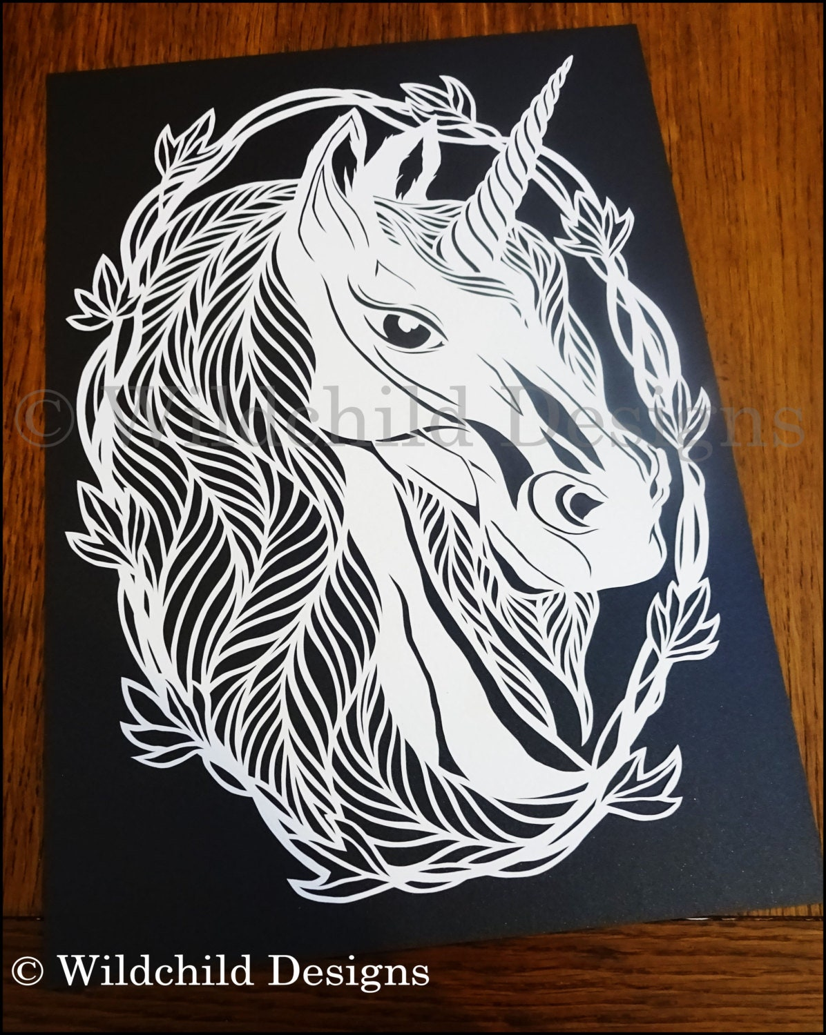 Purity the Unicorn Papercutting Template Vinyl Template SVG