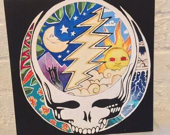 Grateful Dead Night/Day Skull Original Painting
