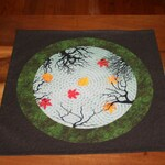 Altar Cloth or Tarot Cloth - Reflections in an Autumn Pond  - Pagan or Wicca Altar Cloth