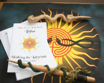 Ritual Book - Walking The Labyrinth, A Pagan or Wicca Ritual for Litha (Summer Solstice) on the Wheel of the Year - Ready-to-Use Ritual Book