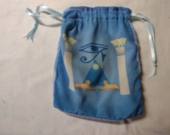 Tarot Bag or Altar Cloth Bag Seconds - The Eye of Horus - for tarot readings and divination, runes, crystal reading, dice