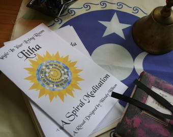Ritual Book - A Spiral Meditation, A Pagan or Wicca Ritual for Litha (Summer Solstice) - Wheel of the Year - Ready-to-Use Ritual Program