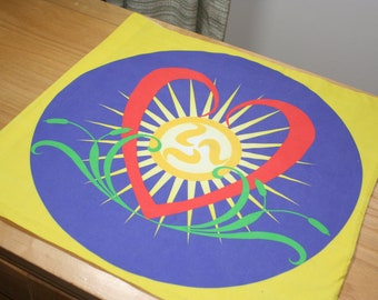 Altar Cloth or Tarot Mat Seconds - The Shining Heart  - Pagan or Wicca