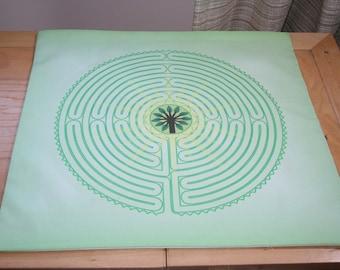 Altar Cloth or Tarot Mat Seconds - Arboreal Labyrinth  - Pagan or Wicca Altar or Tarot Cloth