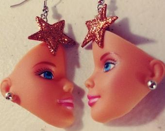 Barbie Doll Head Earrings