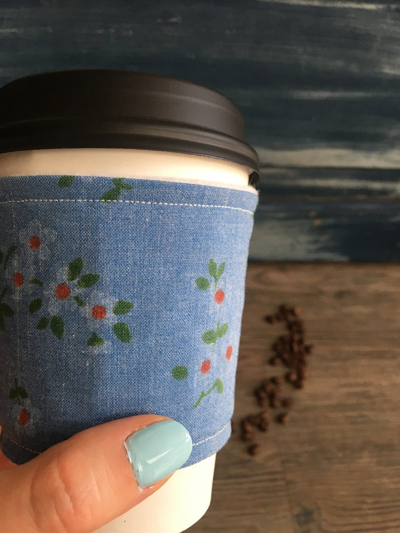 Coffee Cozy  Reusable Coffee Cup Sleeve image 0