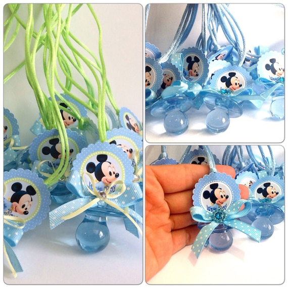 12 Mickey Mouse Baby Shower Pacifiers Mickey Mouse Baby Etsy