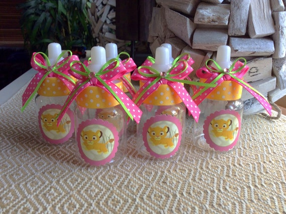 12 Small 35 Lion King Baby Shower Baby Bottles Lion Etsy