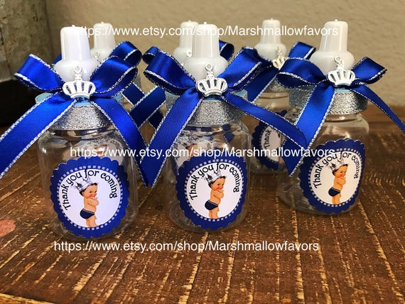 12 Small 3 5 Royal Blue Baby Shower Favors Little Etsy