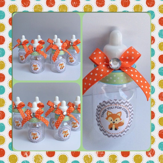 12 Fox Baby Shower Baby Bottles Fox Baby Shower Fox Baby Etsy