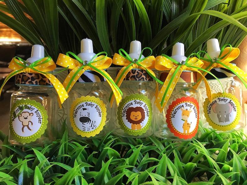 12 Safari Bottle Favors For A Boy Baby Shower Favors Safari Etsy