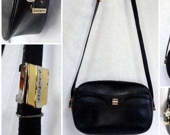 e6b6389b56c2 GIVENCHY Paris Leather Shoulder Bag Sling Hobo Handbag Pochette Crossbody  Snake Print Gold Plated Silver Hardware Adjustable Strap
