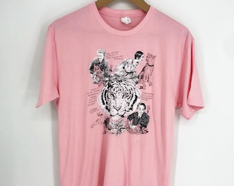 SALE: SIZE S Big Cat T-Shirt (in pink)