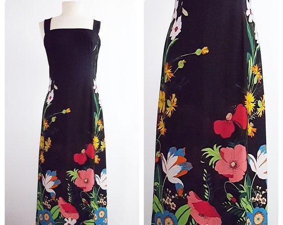 The spirit of the 70s | 1970s semi sheer maxi dress | 70s sundress