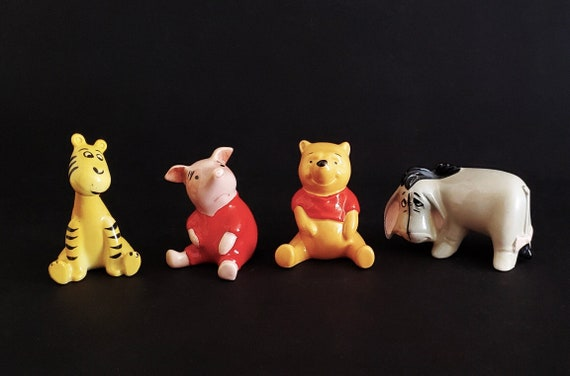 Vintage Winnie-the-Pooh, Tigger, Piglet, and Eeyore Made in England by Royal Doulton's Beswick as Official Walt Disney Figures GVC