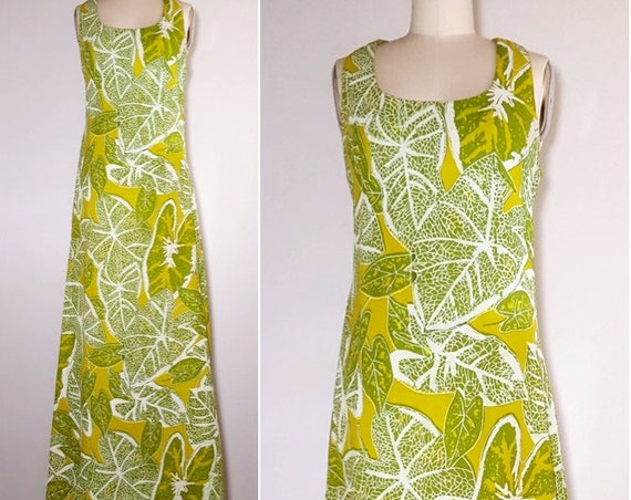 Island dreaming  | 1960s Caribbean maxi dress | 60s batik dress