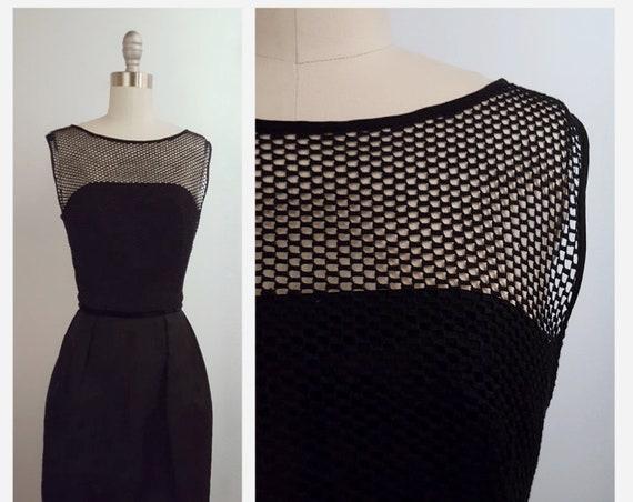 1960s black cocktail dress | 60s little black dress size xsmall