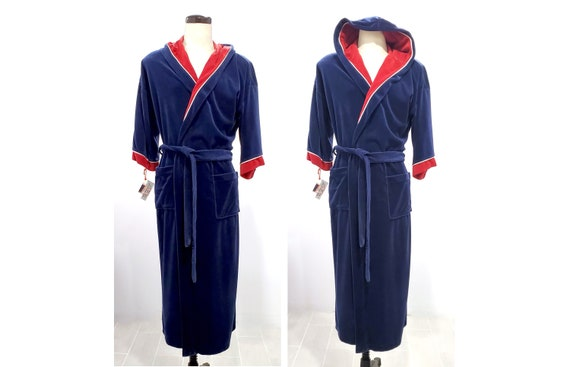 Luxurious And Thick Caufields Tip Top Tailors Vintage Velour Men's Hooded Robe One Size Fits All S-L