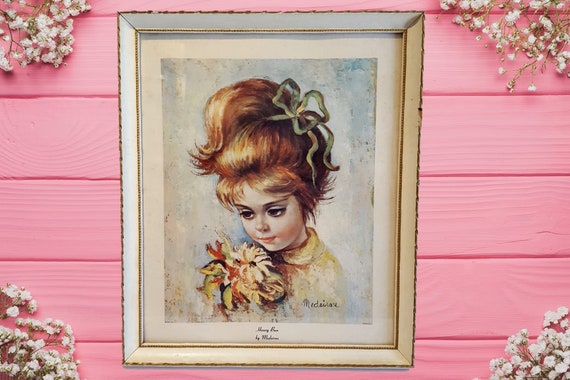 1960s Honey Bun by Mederios Print in frame | 60s Mederios framed art