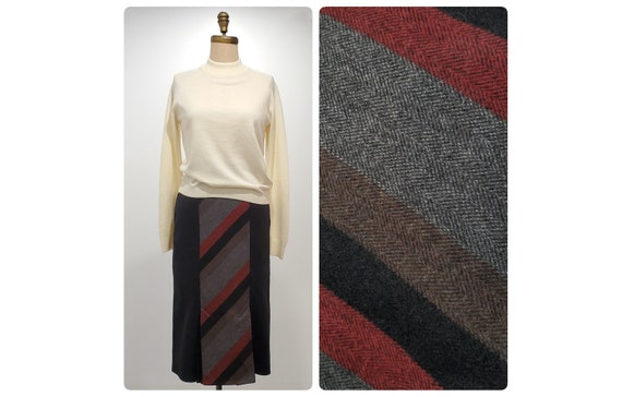 Classic 1980s pencil skirt | 80s wool blend skirt | size small