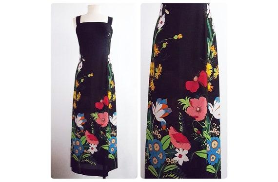 The spirit of the 70s   1970s semi sheer maxi dress   70s sundress