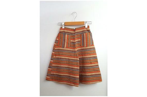 1970s boho palazzo shorts | 70s ethnic festive shorts size x small