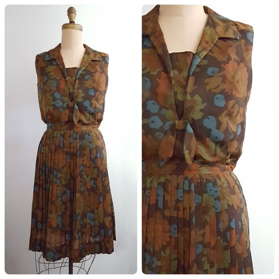 1960s blouse and skirt set   60s sailor style top