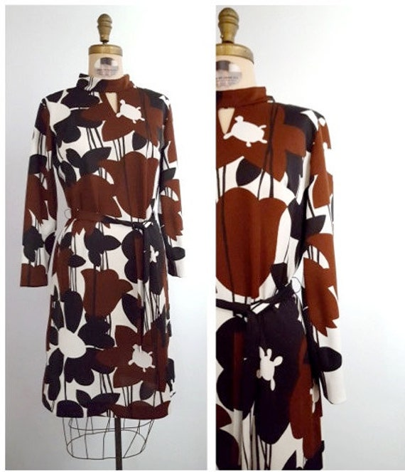 1970s pop art print dress size medium
